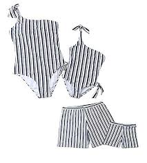 Loalirando <b>Family</b> Matching <b>Swimwear</b> Blue <b>White</b> Stripe One Piece ...
