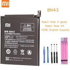 qrxpower original bn41 replacement battery for xiaomi redmi note 4 real capacity 4000mah li ion phone tool