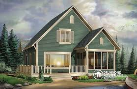 House plan W detail from DrummondHousePlans comfront   BASE MODEL Small and affordable ski chalet  scandinavian style house plan