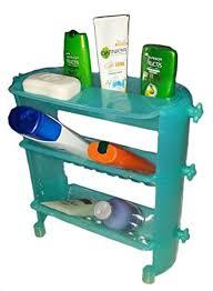 JEEJEX <b>Plastic</b> 3 Layer Shelf <b>Bathroom Storage</b> Organizer (Multicolor)