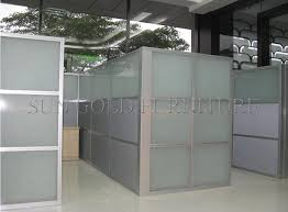 popular cheap office used low half glass wall partition sz ws587 cheap office partitions