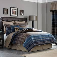 emily bedroom set light oak: elegant bedroom with blue brown striped bedding sets queen  pieces croscill clairmont european sham