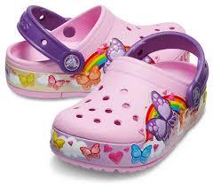 <b>Сабо Kids</b>' <b>Crocs</b> Fun Lab Butterfly Band Lights Clog - купить в ...