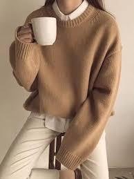 Casual <b>Women</b> Round Neck <b>Long</b> Sleeve <b>Plain</b> Sweater | Clothing ...