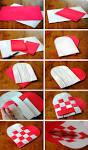 Как сделать из бумаги коробку сердце своими