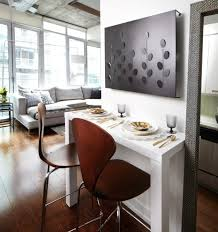 project in progress example of a trendy dining room design in other with white walls and eat in kitchen anatomy eat kitchen