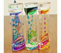 <b>Double Colors Oil Hourglass</b> Liquid Floating Motion Bubbles Timer ...