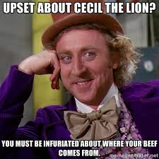 upset about cecil the lion? you must be infuriated about where ... via Relatably.com