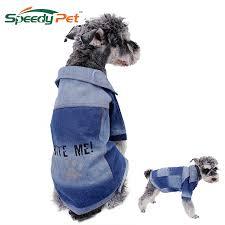 <b>Free Shipping Dog</b> Fashion Paw Print <b>Pet Clothes</b> Jean Fabric <b>Dog</b> ...