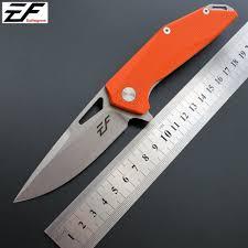 <b>Eafengrow</b> EF37 <b>58</b>-<b>60HRC D2</b> Blade G10 Handle Folding knife ...