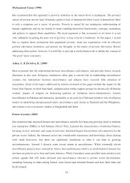 microfinance  project report