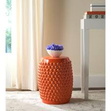 patio stool: stella nail orange head patio stool