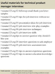 14 useful materials for technical product manager junior product manager resume