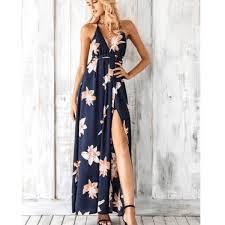 <b>Boho Deep V Neck</b> Backless Dress– Boho Beach Hut