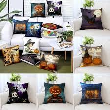 <b>Halloween</b> Pumpkin Square Throw <b>Print</b> Pillow Case Cushion Cover ...