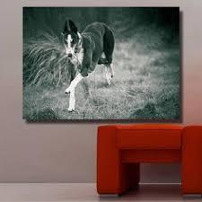 <b>HDARTISAN Wall Art</b> Black And White Greyhound Running Animal ...