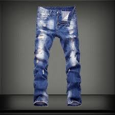 2018 New <b>Autumn Fashion</b> Jeans <b>Men</b> Blue Slim Straight Denim ...