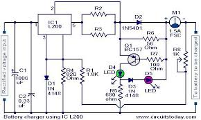 battery charger circuit using l200 electronic circuits and battery charger circuit using l200 jpg