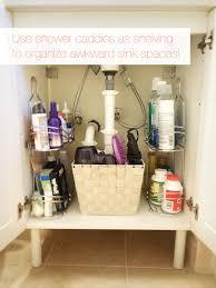 bathroom shower storage organization