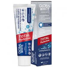 <b>Зубная паста GLOBAL WHITE</b> Total Protection 100 гр — купить в ...