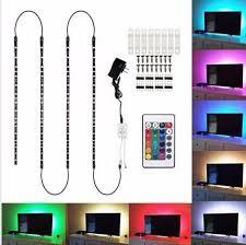 <b>LED</b> Strip LightsYESSHOW 4pcs <b>Led</b> Strip Light TV Backlight Multi ...