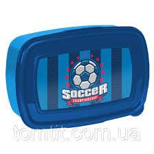 "Набор ""<b>Football</b> - Футбол"", Синий с Голубым. <b>Бутылка</b> и Ланч Бокс"