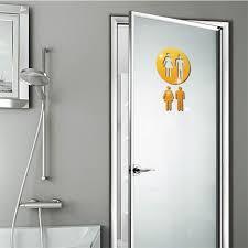 3D Mirror Sticker Funny <b>WC Toilet</b> Door <b>Entrance Sign</b> Men Women ...