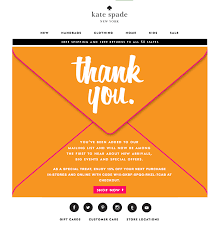 Examples of Standout Welcome Emails     Kate Spade