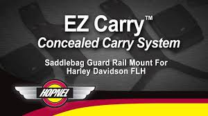 EZ Carry <b>Saddlebag Guard</b> Rail <b>Mounts</b> For <b>Harley</b>-Davidson FLH ...