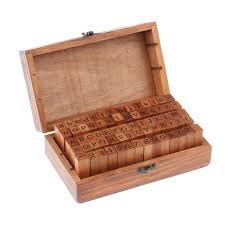 Amazon.com: Estone <b>70pcs</b>/<b>set</b> Wooden Box multipurpose Number ...