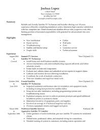 unforgettable satellite tv technician installer resume examples to    satellite tv technician installer resume sample