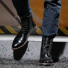 <b>JUQI</b> Men Motorcycle Boots Fashion Ankle Boots Autumn Winter ...