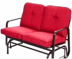 patio bench glider red outdoor patio bench glider red seats  chair garden furniture porch swi