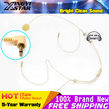 compare prices on tour guide mike online shopping buy low price 10pcs beige 3 5mm jack plug earhook headset microphone head worn mic for wireless system computer