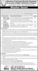 elementary secondary education department esed jobs kpk new related