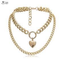 Женское золотое ожерелье в форме сердца Открывающийся ...
