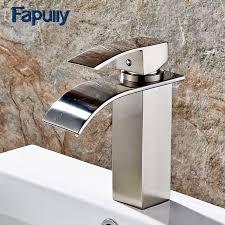 <b>Fapully</b> Basin <b>Faucet</b> Mixer Deck Mount <b>Waterfall Faucet Bathroom</b> ...