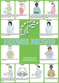 <b>Horse Riding Poster</b> #signlanguageposter | Sign language for kids ...
