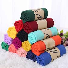 <b>Monochrome Candy Colored Silk</b> New Cotton Linen Scarf Solid ...
