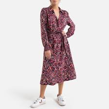 <b>Платье длинное прямое</b> с кашемировым рисунком рисунок ...