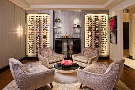 hidden hills ca large trendy wine cellar photo in los angeles with dark hardwood floors and box version modern wine cellar furniture