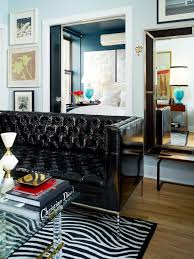 photos hgtv small apartment living room with black tufted leather sofa dining room colors captivating living room design tufted