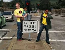 Wait Here For Green Arrow | WeKnowMemes via Relatably.com