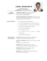 caregiver resume examples resume format 2017 caregiver