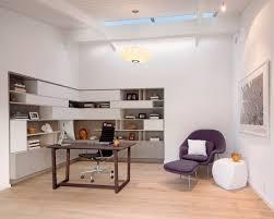 office furniture modern white walls purple chair arrange office furniture