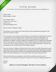 Customer Service Cover Letter Samples | Resume Genius Customer Service (Entry-Level) ELEGANT Cover Letter Template