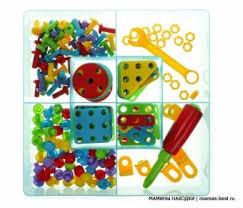 """Винтовой <b>конструктор</b>-<b>мозаика</b> """"Папины дети"""" 189 дет., <b>Bondibon</b>"""