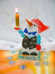 Фьюзинг-сувенир «<b>Снеговик</b>-<b>подсвечник</b>» – заказать на Ярмарке ...