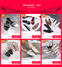 <b>Fashion Women Slippers Slip</b> On Mules Pointed Toe Med Heel ...