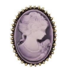 Брошь Vintage Style Камея <b>мал</b>. фиолетовая/ цвет фиолетовый ...